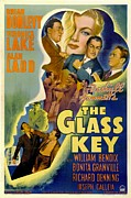 1940s Poster Art Framed Prints - The Glass Key, William Bendix, Veronica Framed Print by Everett