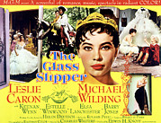 1955 Movies Photo Framed Prints - The Glass Slipper, Leslie Caron Framed Print by Everett