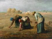 1857 Framed Prints - The Gleaners Framed Print by Jean Francois Millet