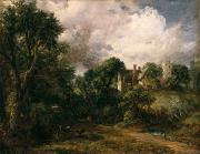 Red Farmhouse Prints - The Glebe Farm Print by John Constable