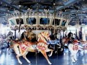Animals Pyrography - The Glen Echo Carousel by Fareeha Khawaja