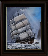 Masted Ship Paintings - The Glenesslin by George E Lee
