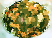 Conservation Art Poster Posters - The Globe- Fall Is Coming Poster by Ausra Paulauskaite