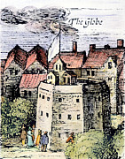 1616 Framed Prints - The Globe Theatre, 1616 Framed Print by Granger