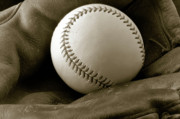 Baseball Bat Photo Prints - The Glove Print by Shawn Wood