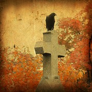 Fall Colors Autumn Colors Posters - The Glow Of Fall Poster by Gothicolors With Crows