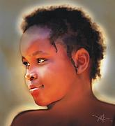 Haitian Digital Art Prints - The Glow Of Innocence Print by Bob Salo