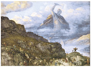 Dwarves Prints - The God Thor and the Dwarves Print by Richard Doyle