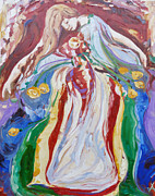 Goddess Mythology Paintings - The Goddess Brigid by Addie May Hirschten
