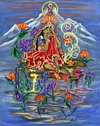 Hindu Goddess Prints - The Goddess of Creativity Print by Radha Flora Cloud
