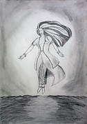 Spiritual Drawings Photos - The Goddess Resurrection by AndiZA