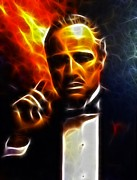 Mafia Art - The Godfather by Pamela Johnson