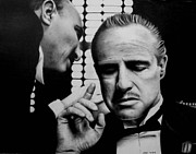 Marlon Brando Framed Prints - The Godfather Framed Print by Rick Fortson