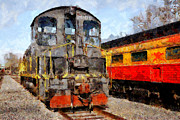 Old Locomotives Acrylic Prints - The Golden Age of Railroads . 7D11588 Acrylic Print by Wingsdomain Art and Photography