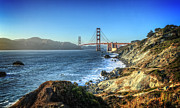 Cliffs Photos - The Golden Gate Bridge by Everet Regal