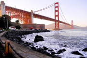 Leori Gill Acrylic Prints - The Golden Gate Bridge Acrylic Print by Leori Gill