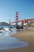 Edge Prints - The Golden Gate Bridge Print by Malinda B Shishido
