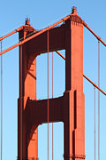 Golden Gate Bridge Acrylic Prints - The Golden Gate Bridge Up Close . San Francisco California . 7D14524 Acrylic Print by Wingsdomain Art and Photography