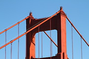San Francisco Golden Gate Bridge Framed Prints - The Golden Gate Bridge Up Close . San Francisco California . 7D14537 Framed Print by Wingsdomain Art and Photography