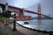 California Posters - The Golden Gate Morning Poster by Sean Foster