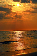 Fort Myers Beach Prints - The Golden Hour Print by Melanie Moraga