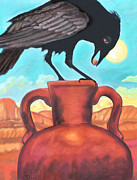Ravens Pastels Posters - The Golden Pearl Poster by Jan Amiss