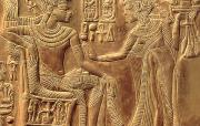 Wood Carving Reliefs - The Golden Shrine of Tutankhamun by Egyptian Dynasty