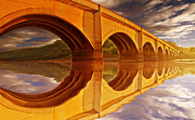 Walking Around Ladybower Reservoir Framed Prints - The Golden Viaduct Framed Print by Nigel Hatton