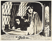 Lobbycard Framed Prints - The Golem, Aka Der Golem, Wie Er In Die Framed Print by Everett