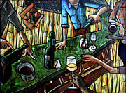 Cubism Paintings - The Good Pour by Sean Hagan