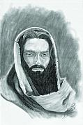 Religious Drawings - The Good Shepherd by Jason McRoberts