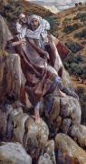 Rural Life Paintings - The Good Shepherd by Tissot