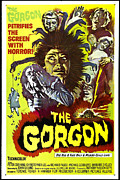 1960s Poster Art Posters - The Gorgon, Prudence Hyman Poster by Everett