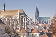 Eure Metal Prints - The Gothic Cathedral Of Chartres Metal Print by Julian Elliott Ethereal Light