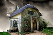 Cottage Digital Art - The Gothic Cottage by Christine Lake