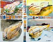 The Gourd Quartet Print by Mindy Newman