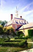 Methune Hively Digital Art Posters - The Governors Mansion Poster by Methune Hively
