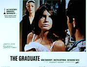 Bedroom Lovers Posters - The Graduate, Anne Bancroft, Katharine Poster by Everett