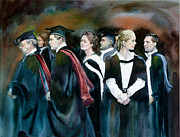 Nephew Prints - The Graduates Print by Gilly  Marklew