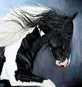 Black Stallion Paintings - The Grafter by Caroline Collinson