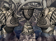 Surrealist Digital Art - The Grail of Two Minds by Jon Gemma In Your Living Room
