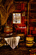 Tacoma Prints - The Granary at Fort Nisqually IIII Print by David Patterson