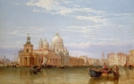 Picturesque Painting Metal Prints - The Grand Canal - Venice Metal Print by George Clarkson Stanfield