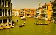 Gondolier Framed Prints - The Grand Canal Framed Print by Alberta Brown Buller