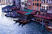 Gondolier Framed Prints - The Grand Canal Framed Print by Traveler Scout