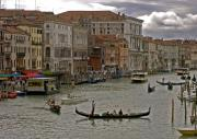 Gondola Ride Prints - The Grand Canal. Venice Print by Mike Lester