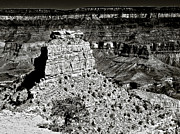 Cavern Digital Art Acrylic Prints - The Grand Canyon BW Acrylic Print by Nadine and Bob Johnston