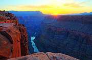 Light And Shadow Art - The Grand Canyon Solitude At Toroweap by Bob Christopher