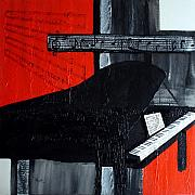 Musical Notes Painting Originals - The Grand II by Richard Roselli