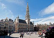 Municipality Posters - The Grand Place Poster by Jim Chamberlain